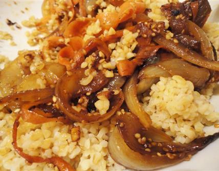 Boulgour aux oignons et carotte