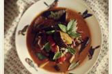 Curry d'aubergines, pommes de terre et tomates