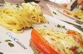 Escalopes à l'italienne et ses linguine aux 4 fromages
