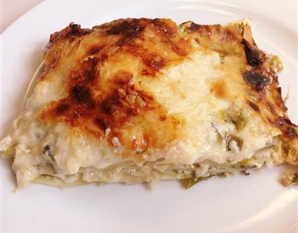 Lasagne farçie aux poireaux ricotta