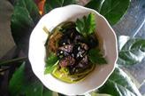 Nids de poireaux aux champignons grillés