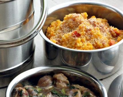 Risotto de Quinoa à la Courge, Sauce aux Châtaignes