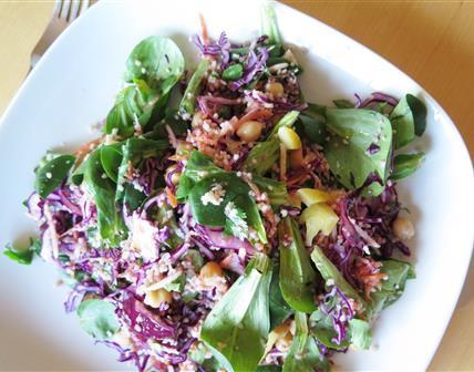 Salade d'hiver colorée