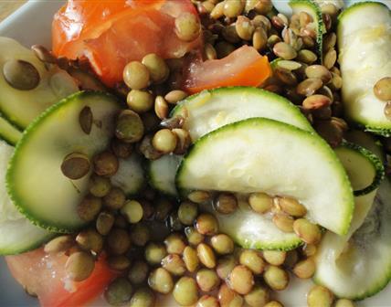 Salade de lentilles estivale