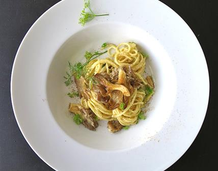 Spaghettis aux pleurotes
