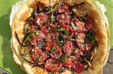 Tarte aubergine et tomates